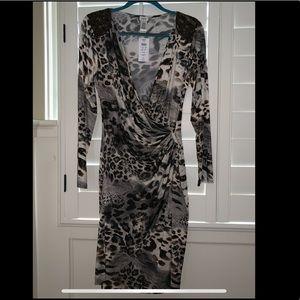 CACH'E Leopard Cocktail Dress, Size L